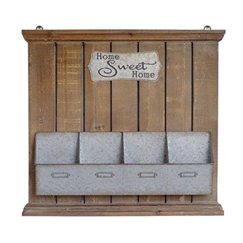 Hqq scaffale per pareti scaffale da parete/scaffali galleggianti-retro loft nostalgico industriale stile ferro e legno da cucina scaffale da parete scaffale/fioriera / cornice decorativa angolare