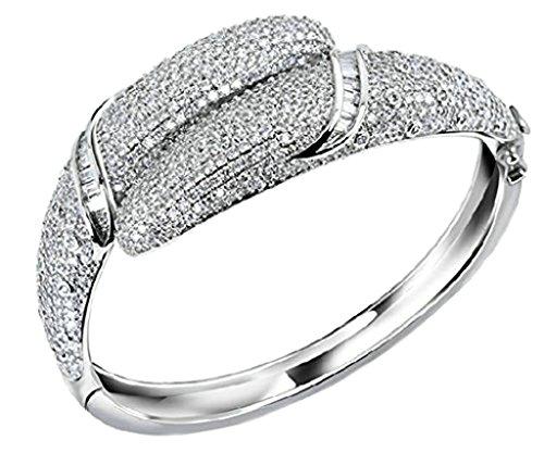 Bracciale Donna Placcato Oro Rotonda Zirconia Cubicia Bianco Da Aienid