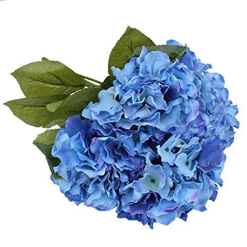 Blue silk flowers uk gallery flower decoration ideas blue silk flowers for wedding amazon luyue 5 big heads artificial silk hydrangeas bouquet fake flowers mightylinksfo