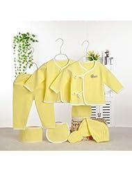 SHISHANG Boîte cadeau pour bébés Ensemble cadeau pour bébé 100% en coton pur Ensemble cadeau pour bébé (jeu de 7 pièces) Boy Girl Four Seasons pour bébé de 0 à 1 an , 59cm