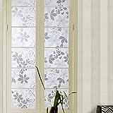 YQ WHJB Badezimmer Statische dekorfolie,Glas Fensterfolien,Sonnen schutzfolie Fensteraufkleber Kein kleber Wiederholte nutzung Cling-Plissee-B 50x200cm(20x79inch)