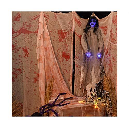 FZ FUTURE Weiße Blutgaze von Halloween, Tür Deko Halloween, Hängedeko Garten Deko Gruselig, für die gruseligste Dekoration zu Halloween