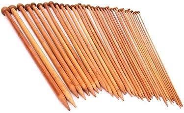Imported 18 Sizes Carbonized Bamboo Single Pointed Needles Knitting Needles