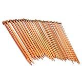 18 Tailles Aiguilles à tricoter à pointe unique en bambou carbonisé