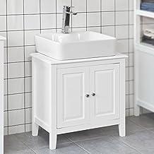 SoBuy® FRG202-W Base armadietto a due ante, Armadietto sotto lavabo, bianco,