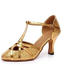 Minitoo - Zapatillas de danza de sintético para mujer