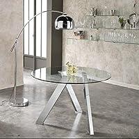 Amazon.it: tavoli rotondi - Vetro / Tavoli da sala da pranzo / Sala da ...