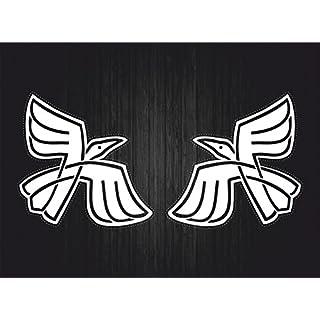 Akacha 2x aufkleber sticker rabe raben viking odin wikinger krähe motorrad auto r3