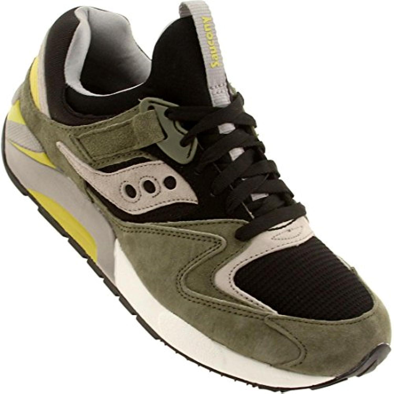 Saucony Damen Grid 9000 Herren grün schwarz Athletic Casual Running Schuhe UK 10/EU 45