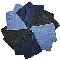 12 Pezzi di ferro sulla toppa: Il pacchetto include 12 pezzi denim cotone toppa in ferro, abbastanza per finire i progetti di artigianato; Le dimensioni della toppa sono 5 x 3.75 pollici/ 12.5 x 9.5 cm (L x W). 3 Diversi colori: Nero, blu scu...