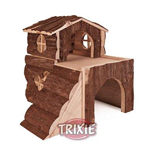 Für Blockhaus Dekor (Trixie 6176 Blockhaus für Hamster Bjork)