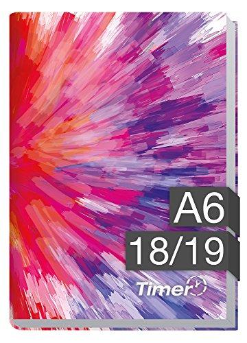 Chäff-Timer mini A6 Kalender 2018/2019 [Farbrausch] 18 Monate Juli 2018-Dezember 2019 - Terminkalender mit Wochenplaner - Organizer - Wochenkalender