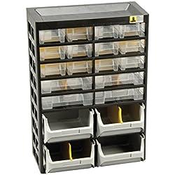 Allit Kleinteiledepot, 1 Stück, schwarz, gelb, 458160