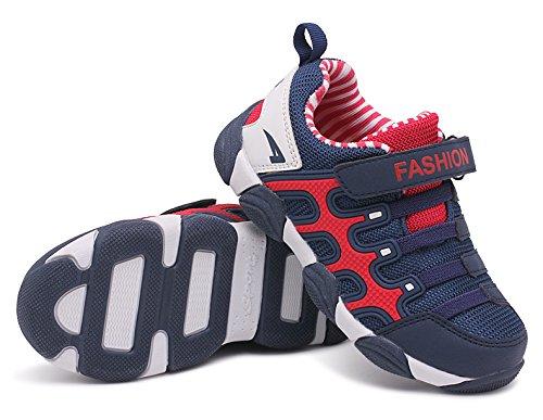 KISCHERS Unisex Kids Outdoor Scarpe Sportive Junior velcro Traspirante Maglia Sneaker per Bambini e Bambine blu