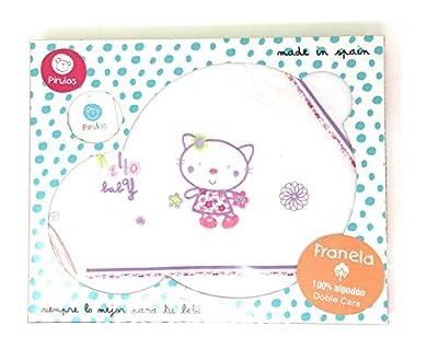 PIRULOS-Sabanas invierno Franela MINICUNA - ( bajera+encimera+funda almohada) Hello Baby blanco-lila