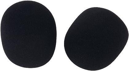 Generic 2 Pcs Studio Microphone Foam Mic Shield Cover Black