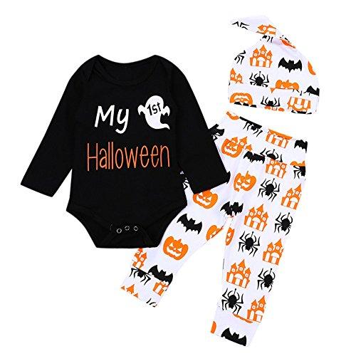 SEWORLD Baby Halloween Kleidung,Niedlich 4PCs Infant Baby Mädchen -
