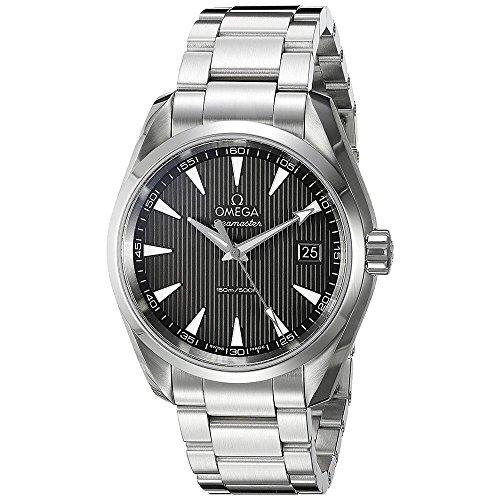 Omega, orologio da uomo con cinturino e cassa 38 mm in acciaio, quadrante...