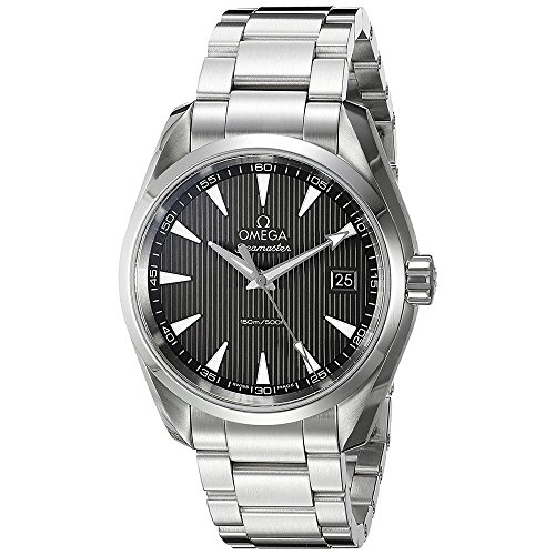 Omega Herren-Armbanduhr 38mm Steel Bracelet & Case schwarz Zifferblatt Quarz 23110396006001