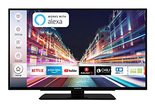 Techwood F39T52C 98 cm (39 Zoll) Fernseher (Full HD, Triple-Tuner, Smart TV, Prime Video, Works with Alexa)