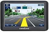 Carelove 7 Zoll Europe Traffic GPS Navi Navigationsgerät Navigationssystem mit kostenlosen lebenslangen Kartenupdates für ganz Europa für PKW KFZ Auto Car Taxi Fahrspurassistent Sprachführung POI Blitzerwarnungen 8GB