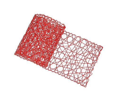Chemin de table rectangulaire scouby tressé 33 x 178 cm rouge, parfait pour sublimer votre table
