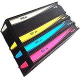 QINK–Pack de 4cartuchos de tinta para HP 970X L HP 971X L para impresoras HP Officejet Pro x576dw X451DN X451dw X476dw X476dn X551dw