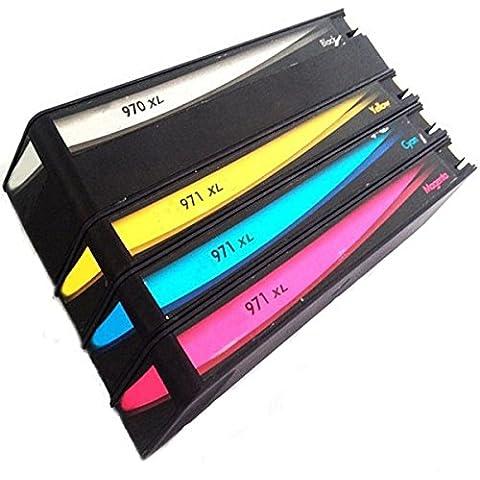 QINK–Pack de 4cartuchos de tinta para HP 970X L HP 971X L para impresoras HP Officejet Pro x576dw X451DN X451dw X476dw X476dn