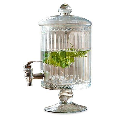 Loberon Getränkespender Makiya, Glas/Kunststoff, H/B/T ca. 33/22 / 17 cm, klar