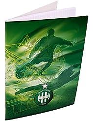 Cahier ASSE - Collection officielle AS SAINT ETIENNE - Rentrée scolaire - 96 pages Grand format grands carreaux 24 x 32 cm