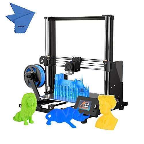 Anet A8 Plus DIY Stampante 3D migliorata, auto assemblaggio ad alta precisione,telaio in lega di alluminio, pannello di controllo LCD mobile, protezione da sovracorrente, scheda madre