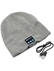 Música Bluetooth PsmGoods caliente suave DIGITALJIMS con auriculares gorro hdphones altavoz micrófono inalámbrico manos libres para hombres mujeres Xmas facón gris claro
