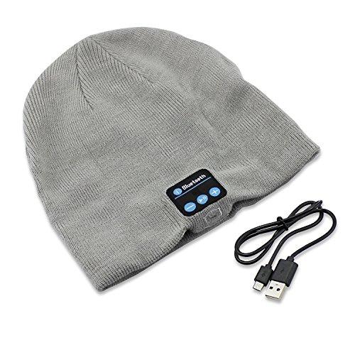 Aussel Bluetooth Beanie maglia cappello Hands Free Music Cap con auricolare altoparlante Mic per sport esterni sci Corsa Regali di