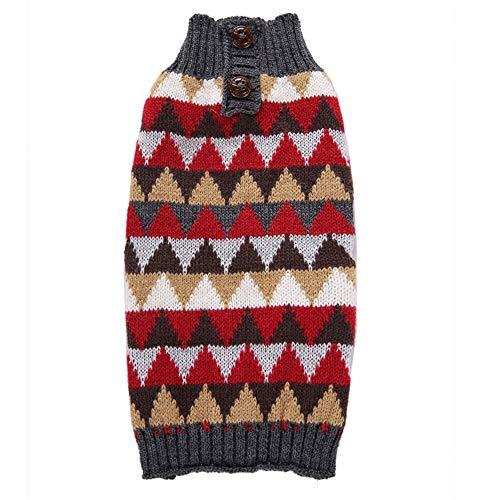 Y-pet Pullover Hund College Plaid Hundebekleidung Herbst und Winter Golden Retriever Hund Haustier Pullover Kleidung für Hunde (Farbe : Rot, Größe : XL) - College-hund-pullover