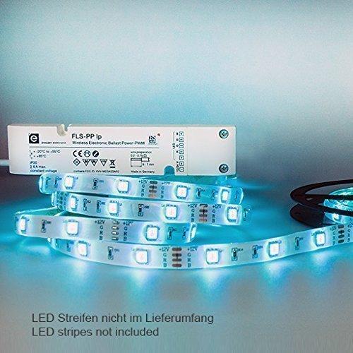 Funkvorschaltgerät FLS-PP lp mit Power PWM-Schnittstelle — farbintensive Lichtgestaltung für 12/24 V LED-Streifen