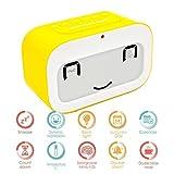 GEREE Nette Emoji Wecker, Batteriebetriebene tischuhr Smart hintergrundbeleuchtung/temperatur/Snooze Weck Wecker für Schlafzimmer, beste Geschenk für Kinder (Gelb)