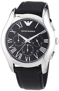 Emporio Armani AR1700 - Reloj de cuarzo para hombre, con correa de cuero, color negro de Emporio Armani