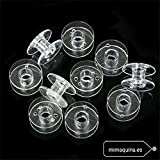 Pack 10 CANILLAS de plastico para Alfa, Juki, Elna, Singer, Lervia, Aeg, etc