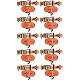 10x Spanngurt mit Ratsche 35mm/6 Meter LC 2000 kg,Spitzhaken,Zurrgurte,Gurt,Gepäckgurt,Ratschenspanngurt