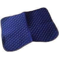 Sharplace Acolchada de Algodón de Montar a Caballo Silla Antideslizante 100 x 65CM Accesorio de Hípica - Azul