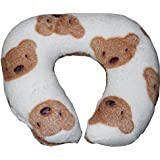New Born Baby Soft Pillow For Baby Head Shaping Toy Shape Takiya, Teddy Print Children'S Neck Support Pillow, Soft And Plush Cotton Baby Pillow For Easy Washing Feeding & Nursing Baby Neck Pillow (0 To 12 Month's)
