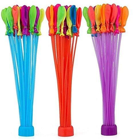 Wasserbomben selbstschließend verschiedene Farben, 3x Adapter a 37 Ballons gleichzeitig befüllen, Riesenspaß für groß und klein