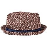 Mannes Cappello Bailey of Hollywood cappello da sole cappello di paglia S (54-55 cm) - rosso bordeaux-melange