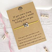WISH BRACELET FRIEND WITH PROSECCO QUOTE GIFT CARD VARIOUS COLOURS CHARM POEM