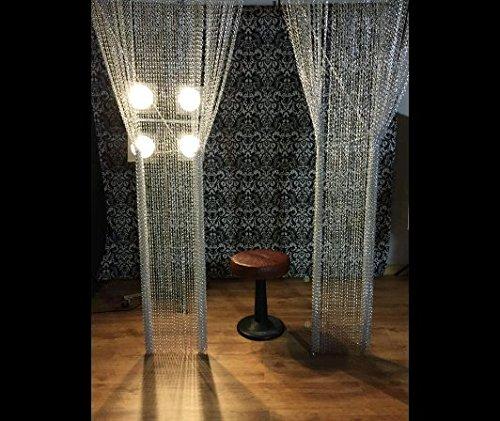 Premium-Aluminium-Fliegengittertür Kettenvorhang Metall-Bildschirm für Fliegen-Insekten-Vorhang-Schädlingsbekämpfung, Insekt-Schirm, hält Insekten, Fliegen, Wespen, Doppelhaken-Fliegen-Schirm für Innen u (Aluminium-vorhang)
