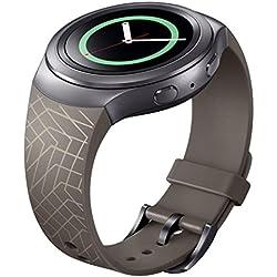 Ularma Luxury Silicone Watch Band Strap For Samsung Galaxy Gear S2 SM-R720 Brown
