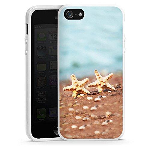 Apple iPhone 6 Housse Étui Silicone Coque Protection Étoile de mer Plage Sable Housse en silicone blanc