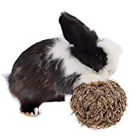 Bola de hierba con cascabel en su interior, juguete de dentición para conejos y hámsteres, de Emours
