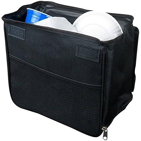 Evelots Automotive trashstand Basket, ponderata e tenuta auto rifiuti, colore: nero