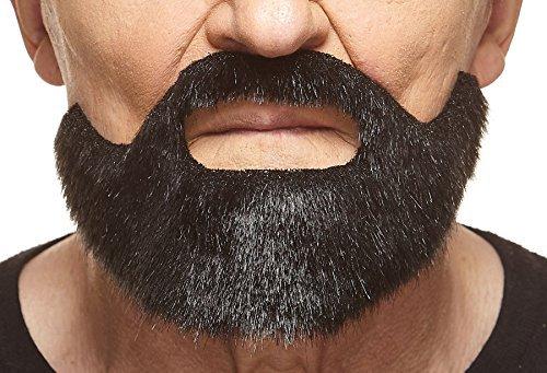 (Mustaches Kurzer schwarz glänzender Hollywoodian fälschen, selbstklebend Bart)